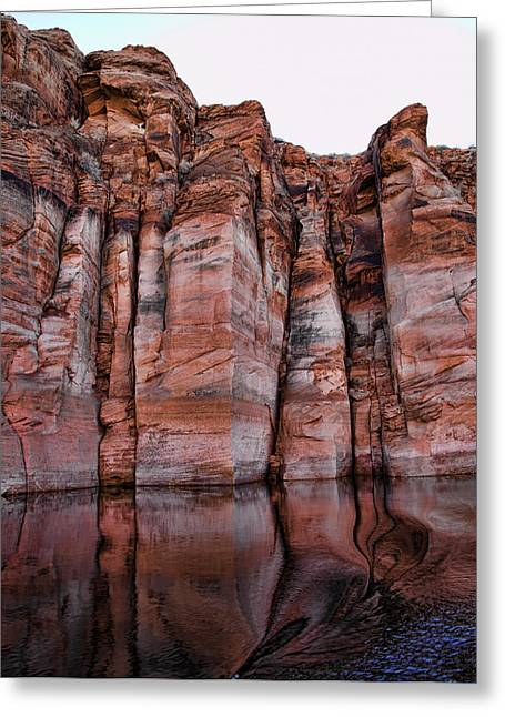 Lake Powell Water Canyon Greeting Card by Jon Berghoff