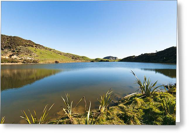 Lake Reflection Greeting Card by Graeme Knox