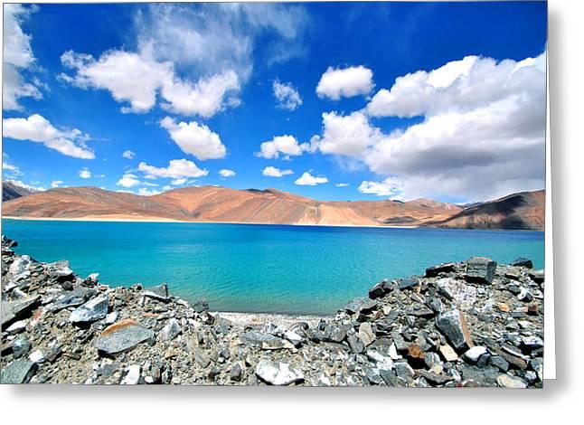 Lake Greeting Card by Saira Ks