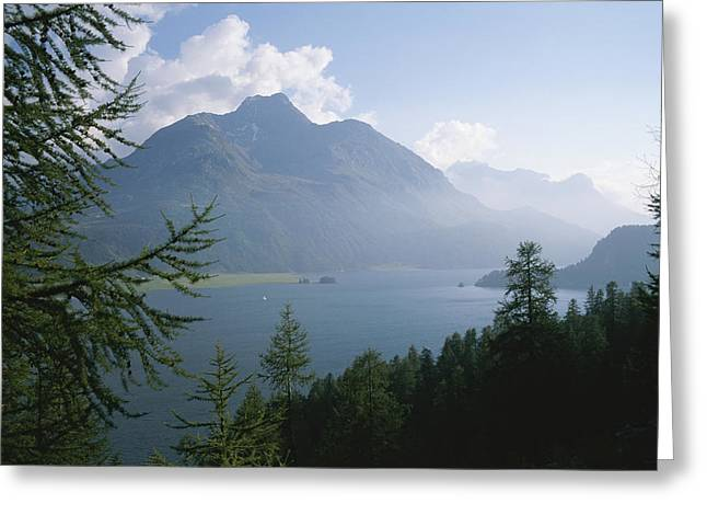 Lake Segl In The Engadin Valley Greeting Card by Taylor S. Kennedy