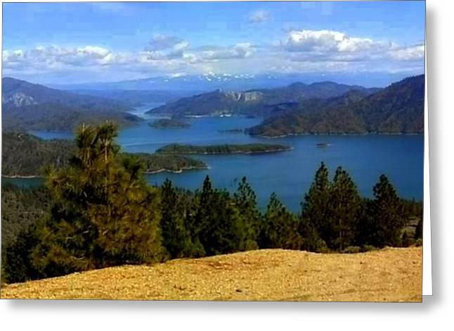 Lake Shasta Greeting Card by Garnett  Jaeger