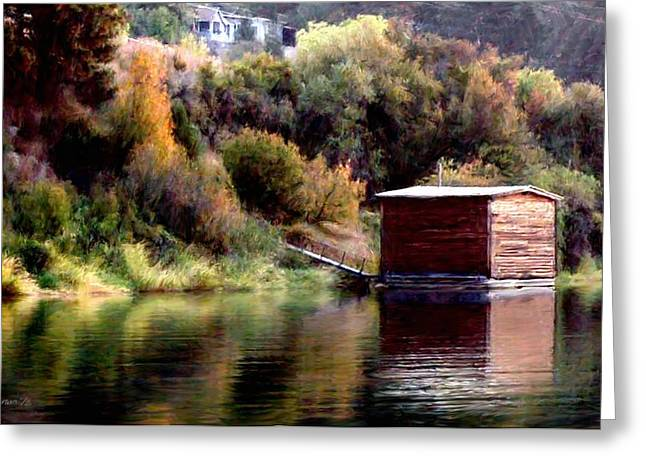 Lake Shed Greeting Card by Jim Pavelle