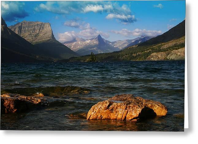Lake St Mary Glacier National Park Greeting Card