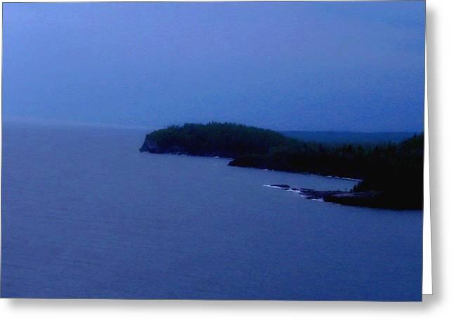 Lake Superior Greeting Card by Shweta Singh