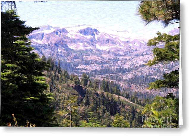 Greeting Card featuring the photograph Lake Tahoe Mountains by Anne Raczkowski