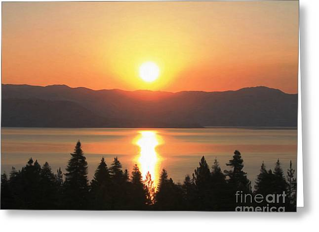 Greeting Card featuring the photograph Lake Tahoe Sunrise by Anne Raczkowski