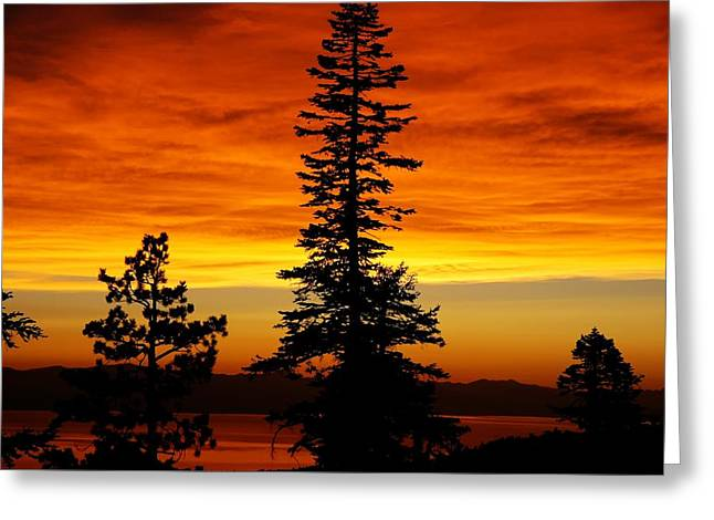 Lake Tahoe Sunset Greeting Card by Bruce Friedman
