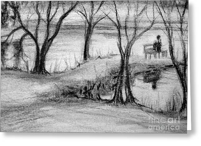 Greeting Card featuring the photograph Lake Watcher by Gretchen Allen