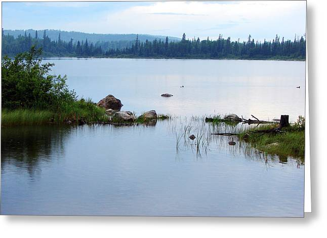 Greeting Card featuring the mixed media Lake West Of Wawa by Bruce Ritchie