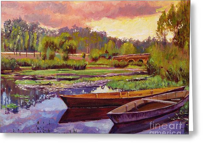 Lakeboats France Greeting Card by David Lloyd Glover