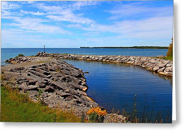 Greeting Card featuring the photograph Lakeside Bend by Davandra Cribbie