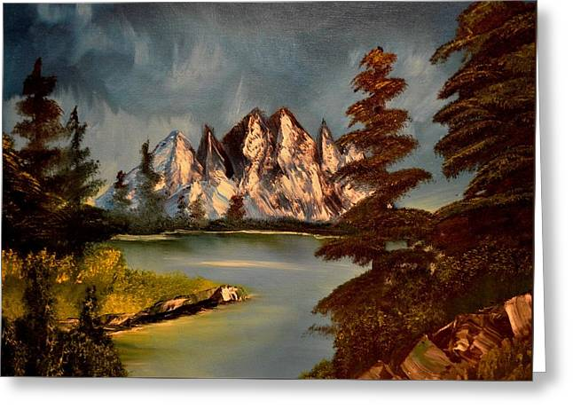Greeting Card featuring the painting Lakeview by Maria Urso