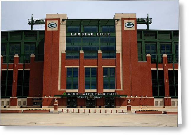 Lambeau Field - Green Bay Packers Greeting Card by Frank Romeo