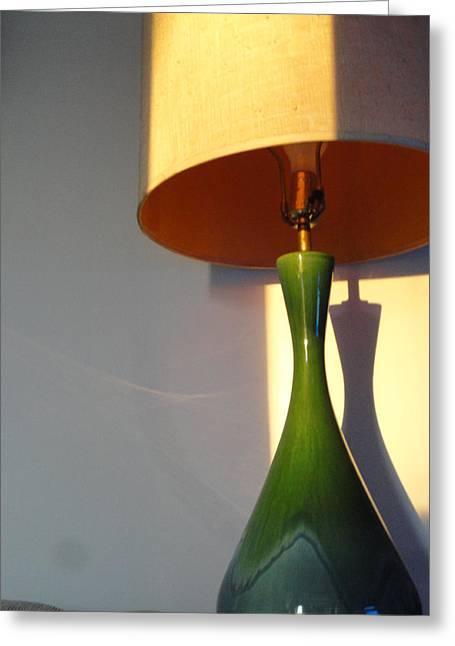Lamp And Shadows Greeting Card by Guy Ricketts