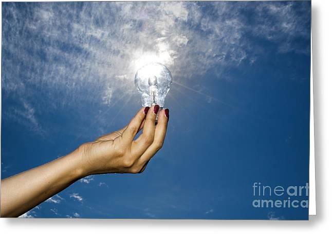 Lamp Bulb Greeting Card