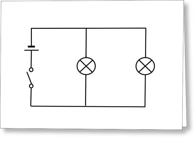 Lamps Connected In Parallel Greeting Card