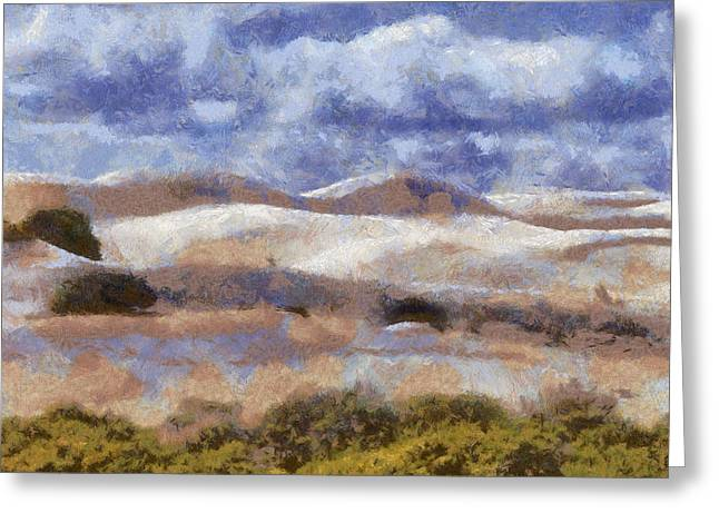 Greeting Card featuring the digital art Lancelin by Roberto Gagliardi