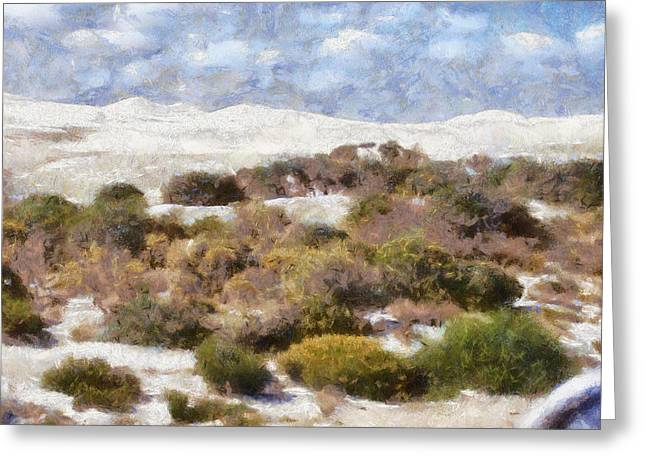 Greeting Card featuring the digital art Lancelin White Sands  by Roberto Gagliardi