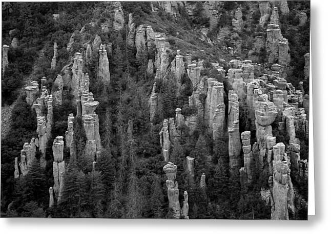 Greeting Card featuring the photograph Land Of Standing Up Rock  by Vicki Pelham