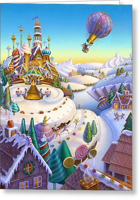 Land Of Sweets Greeting Card by Anne Wertheim