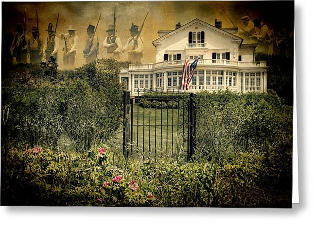 Land Of The Free..home Of The Brave Greeting Card by Robin-Lee Vieira