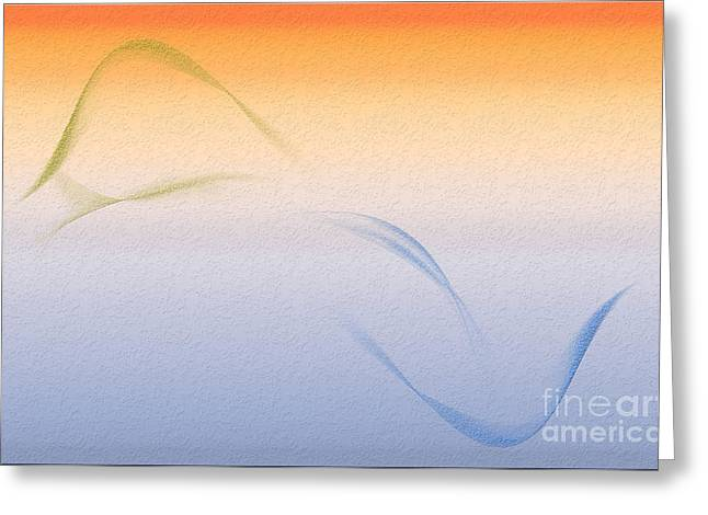 Land To Sea - Fire Greeting Card by Michelle Bergersen