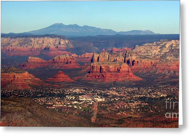 landing in Sedona Greeting Card by Julie Lueders