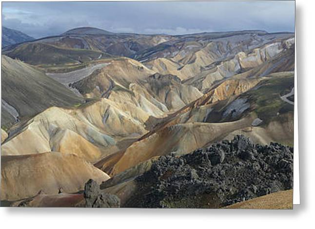 Landmannalaugar Panorama 1 Greeting Card by Rudi Prott