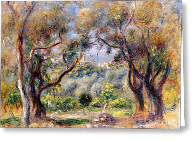 Landscape At Cagnes Greeting Card