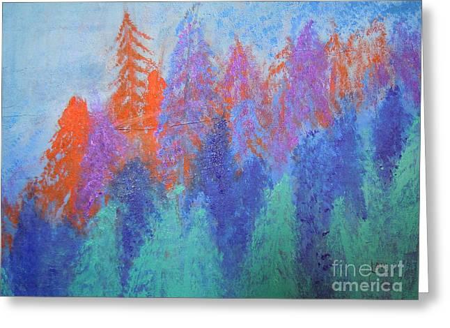 Landscape- Color Palette Greeting Card by Soho