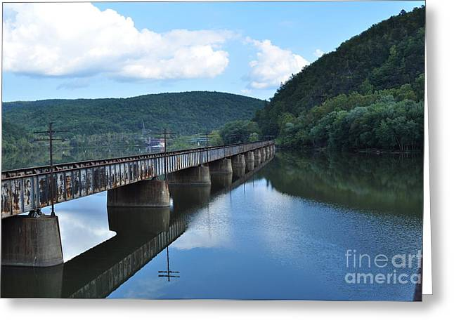 Landscape In Virginia Greeting Card by Lenora Berch