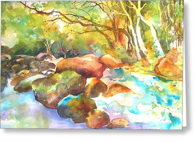 Landscape Kaleidoscope Greeting Card by Betty M M   Wong