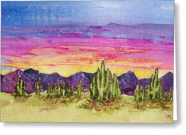 Landscape Greeting Card by Regina Ammerman
