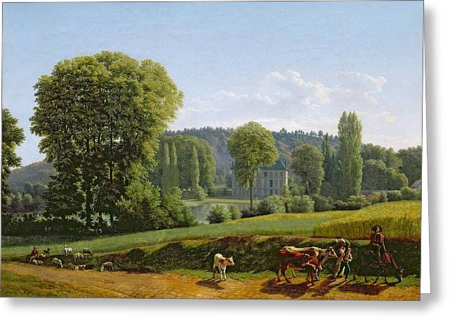 Landscape With Animals Greeting Card by Lancelot Theodore Turpin de Crisse