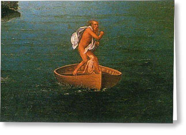 Landscape With Charon Crossing The Styx Greeting Card by Photo Researchers