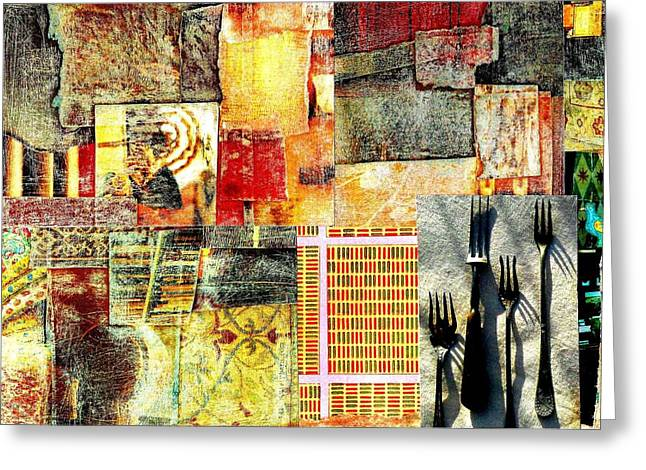Landscape With Forks Greeting Card by Jann Sage