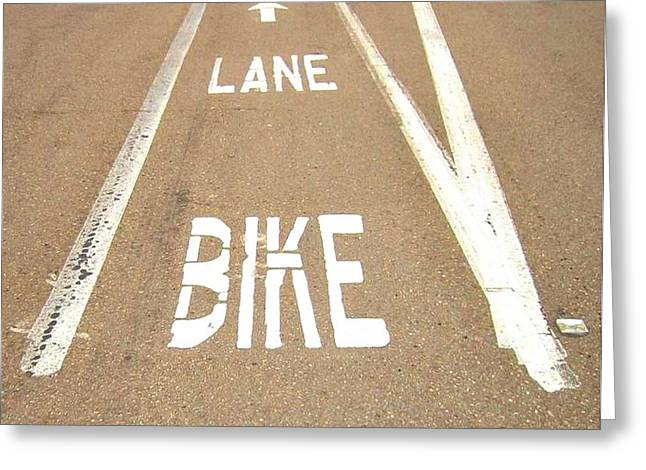 Lane Bike Greeting Card by Jenny Senra Pampin