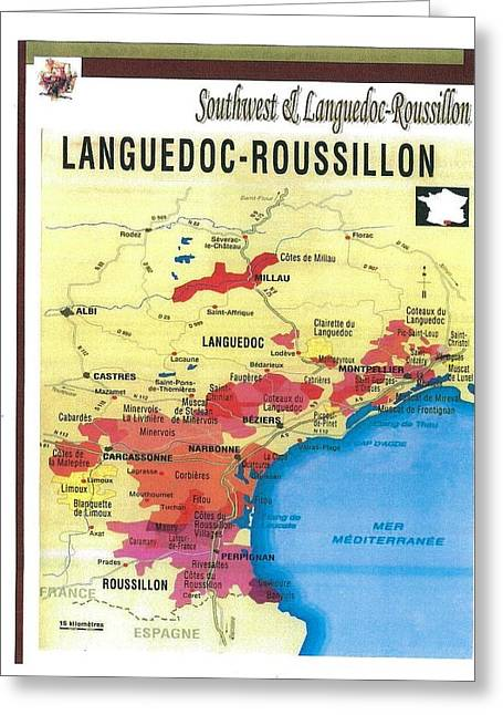 Languedoc-roussillon Wine Region In France Greeting Card