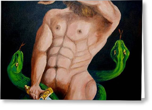 Laocoon And The Two Snakes Greeting Card