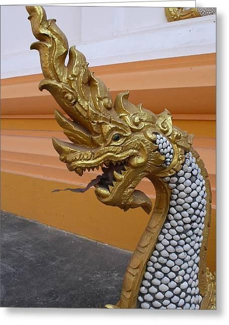 Laos Naga  Greeting Card by Gregory Smith