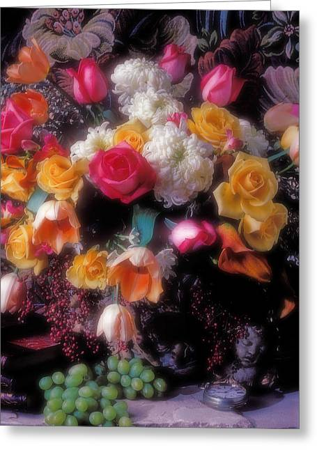 Large Bouquet Of Flowers Greeting Card by Garry Gay