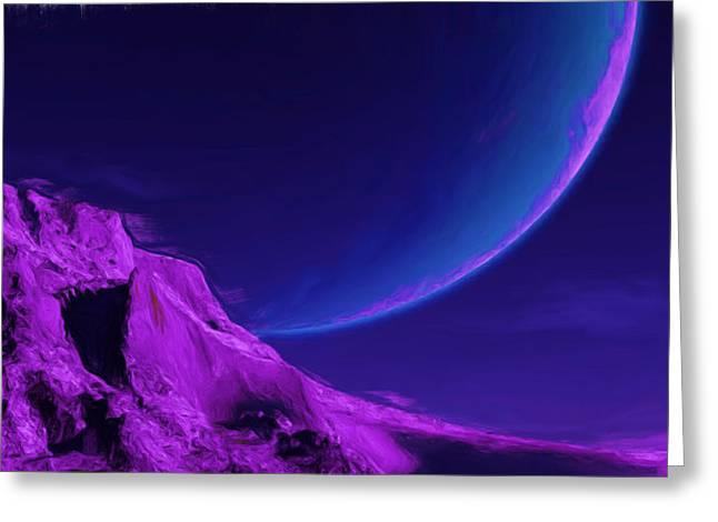Large Unusual Planet  Greeting Card by Wayne Bonney