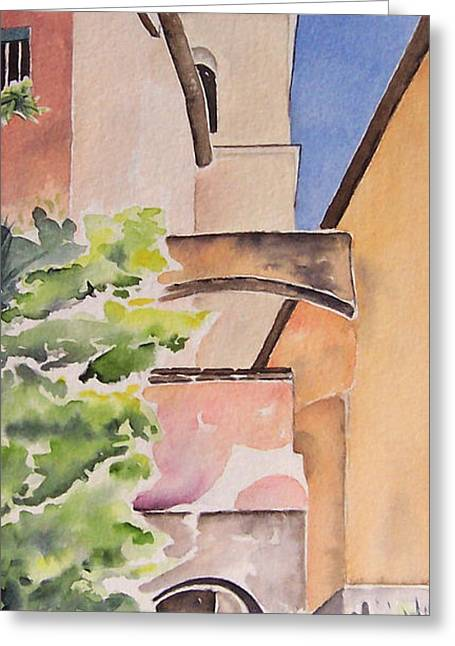 Largo Dell'oratorio Greeting Card by Regina Ammerman