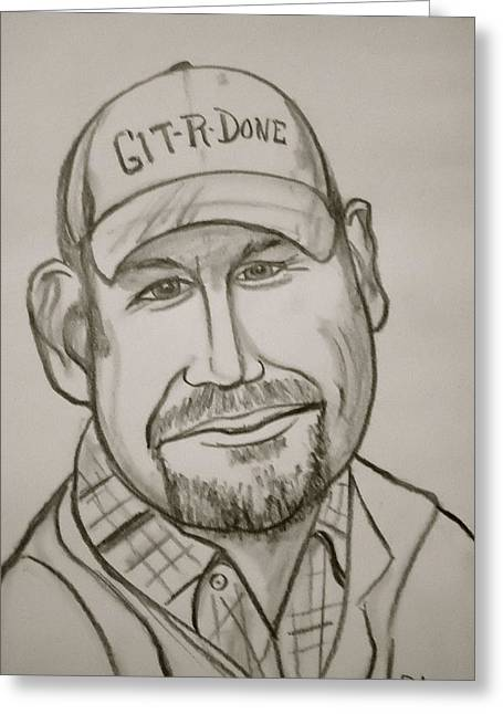 Larry The Cable Guy Greeting Card by Pete Maier