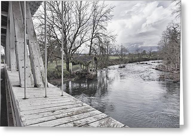 Larwood Covered Bridge Spanning Greeting Card