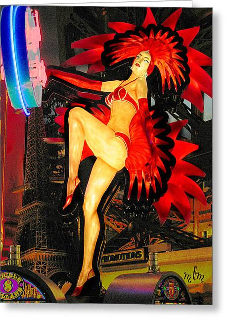 Las Vegas Lady Greeting Card