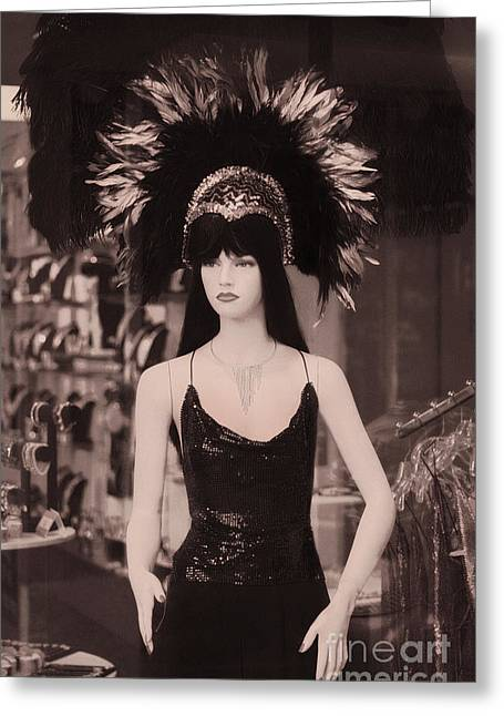 Las Vegas Mannequin  Greeting Card by Janeen Wassink Searles