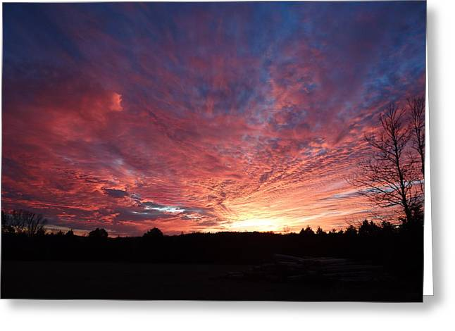 Lascassas Sunset Two Greeting Card by Carol Berning
