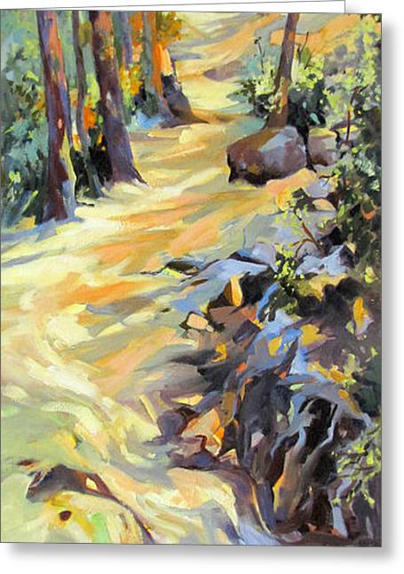 Greeting Card featuring the painting Last Light In Provence by Rae Andrews