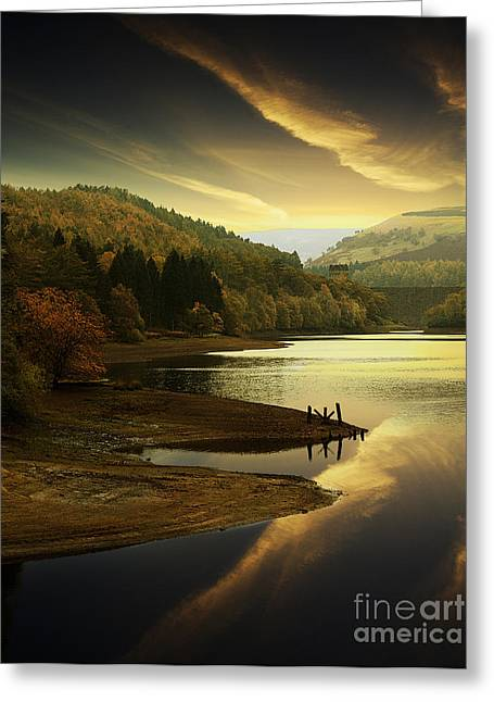 Last Light In The Valley Greeting Card by Martin Jones